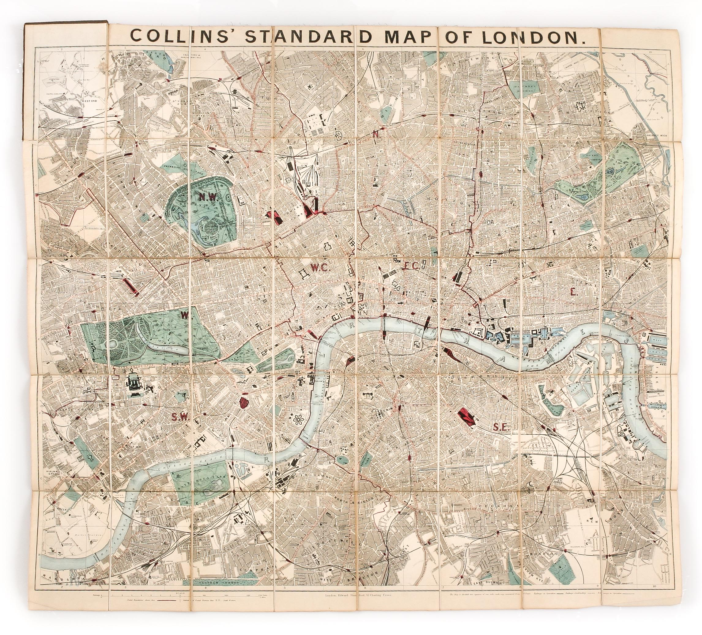 The Map Shop London.Collins Standard Map Of London