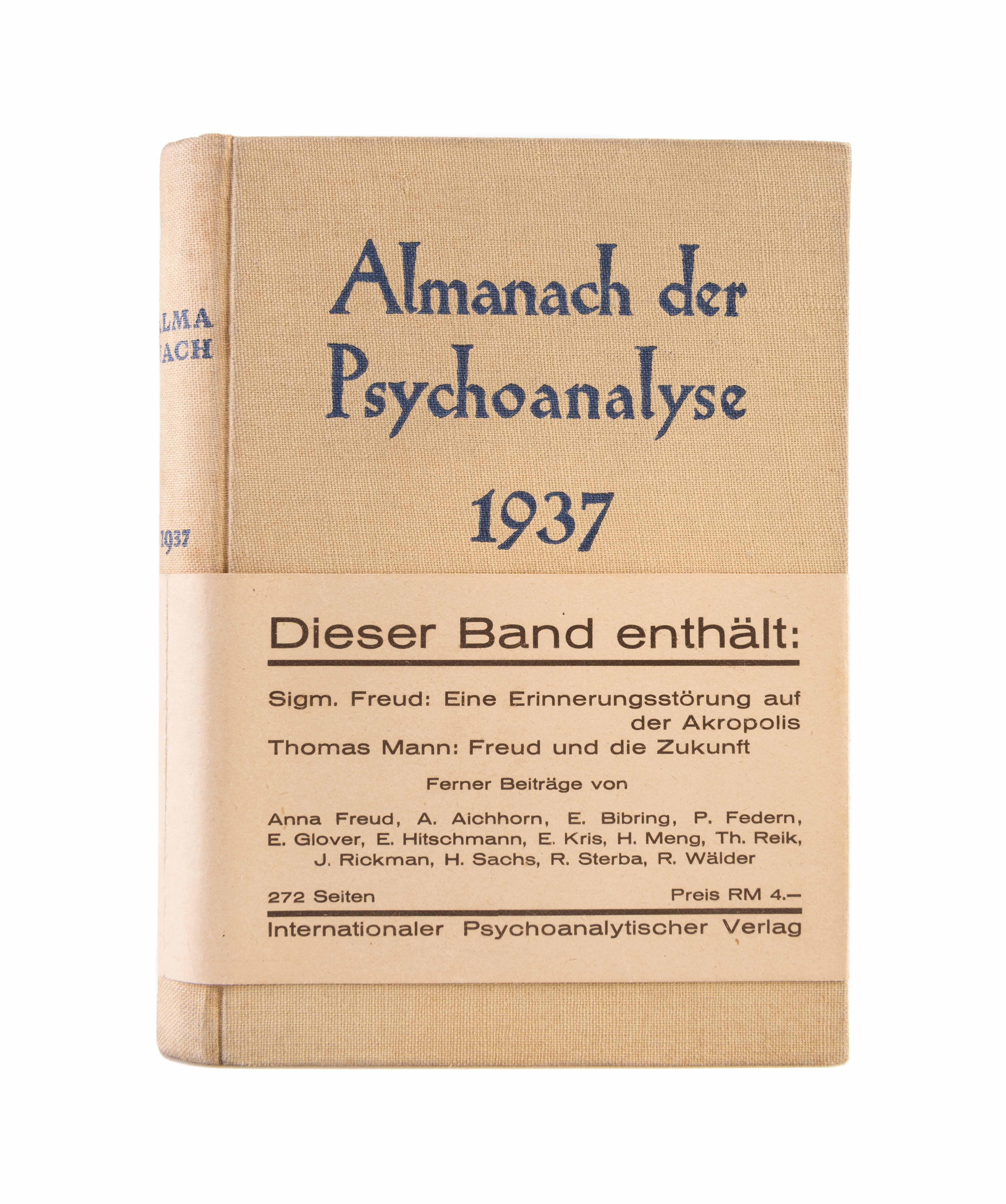 Almanach Der Psychoanalyse 1937
